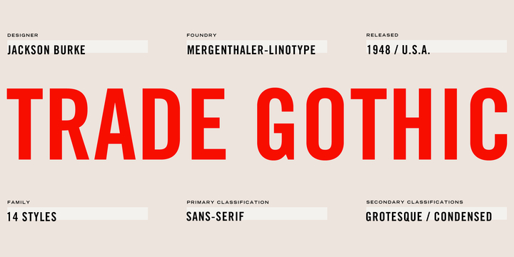Trade Gothic Font Family Free Download
