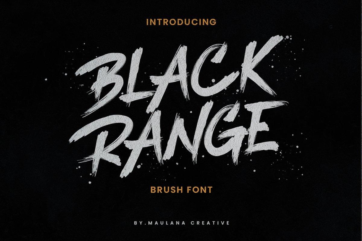 Black Range Brush Font Family Free Download