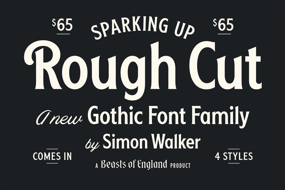 Rough Cut Font Family Free Download