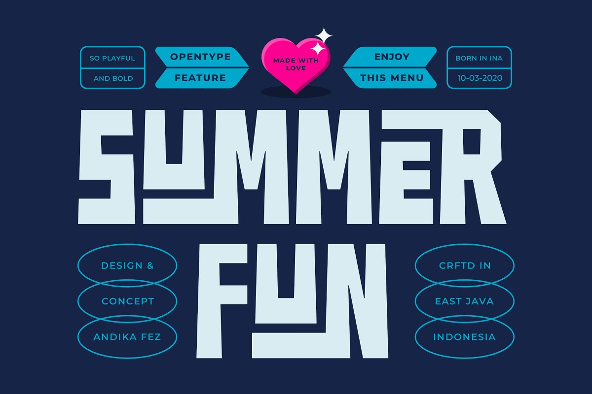 SUMMER FUN Font Family Free Download