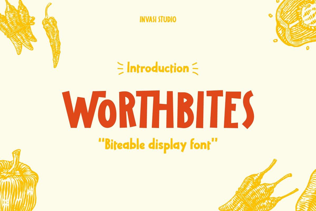 Worthbites Font Family Free Download