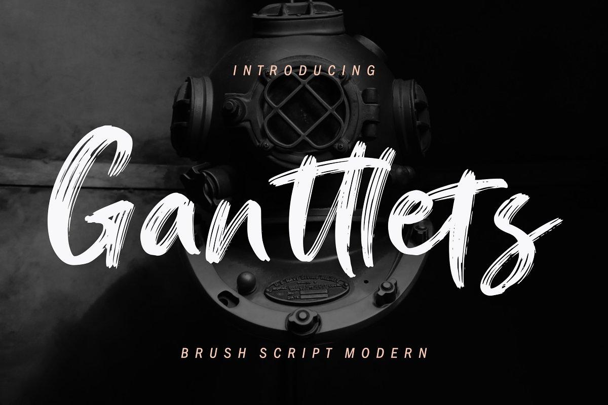 Ganttlets Brush Script Font Free Download