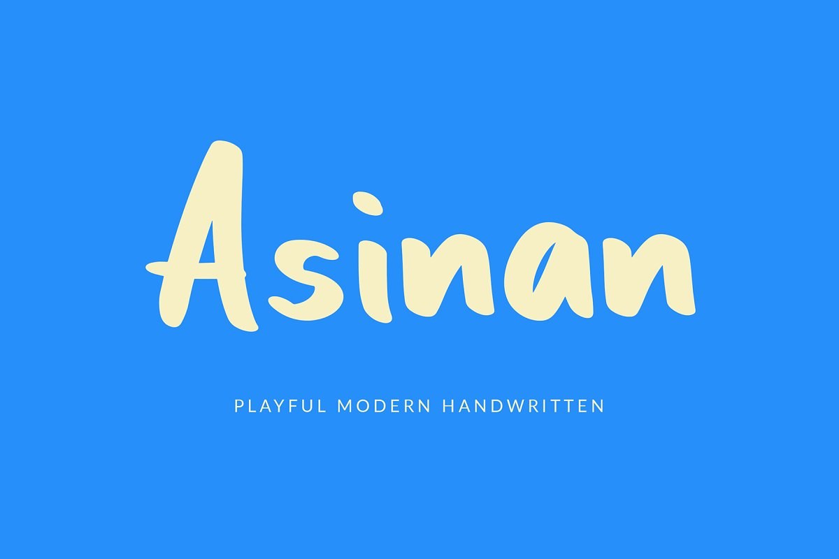 Asinan Playful Handwritten Font Free Download