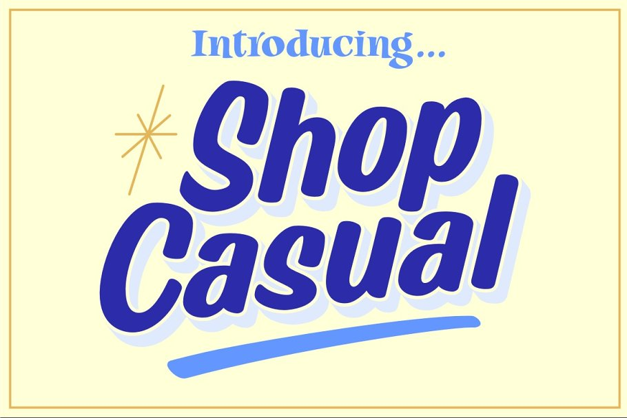 Shop Casual Font Family Free Download