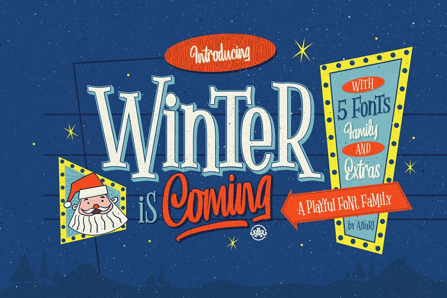 Winter Is Coming Font Family Free Download