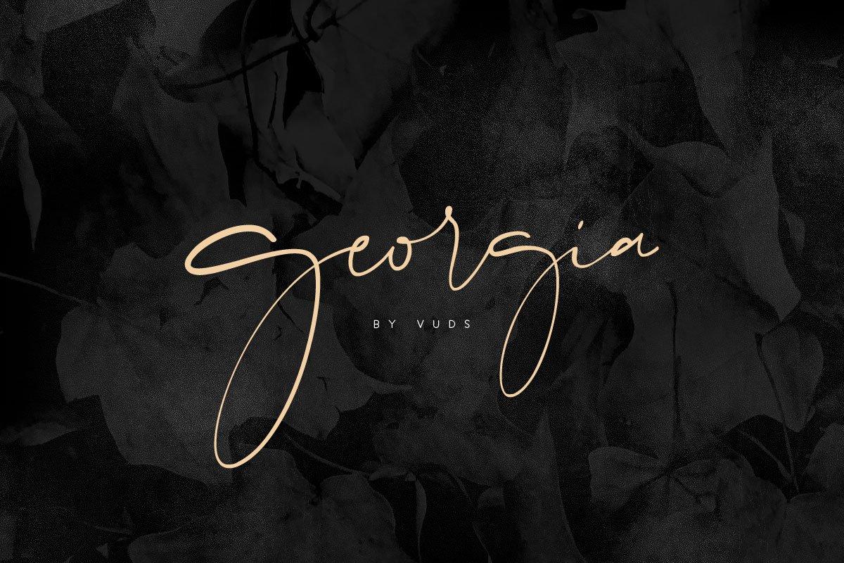 Georgia Script Font Family Free Download