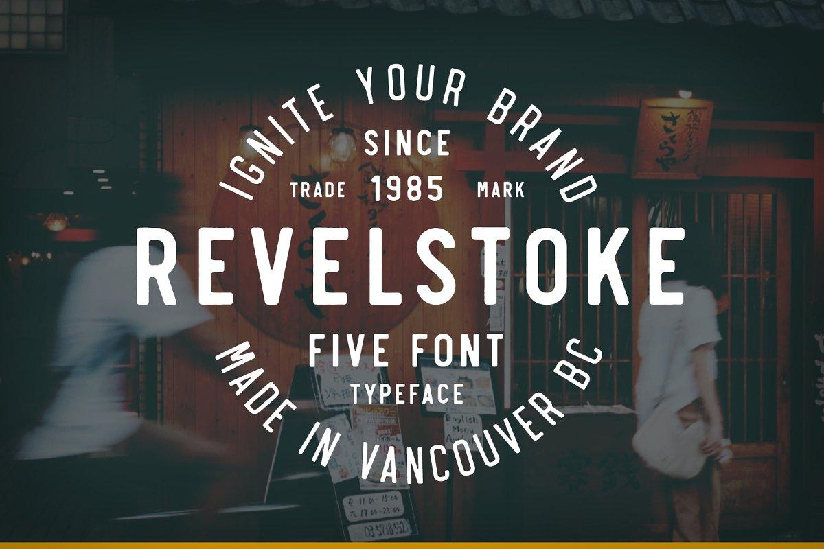 Revelstoke font family free download