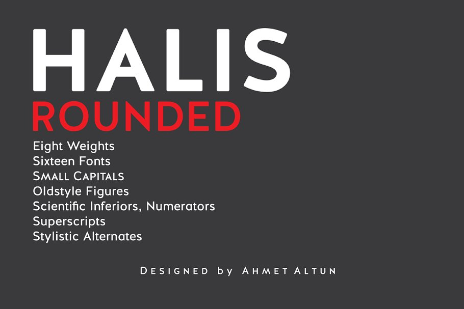 Halis Rounded font family free download