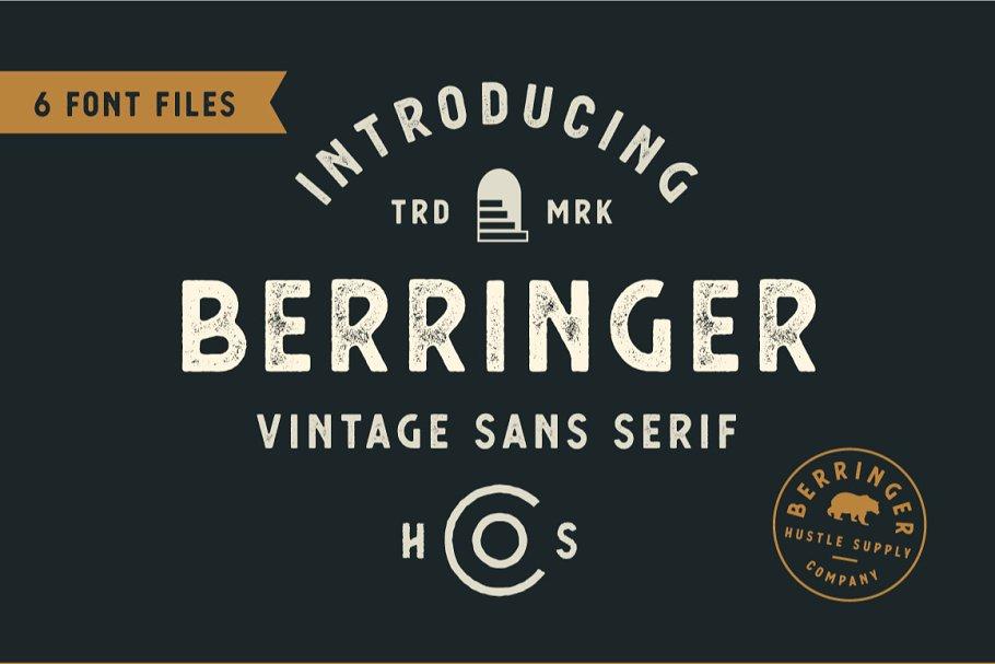Berringer font family free download
