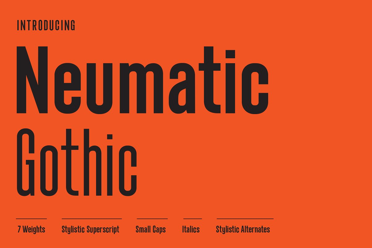 Neumatic Gothic font family free download