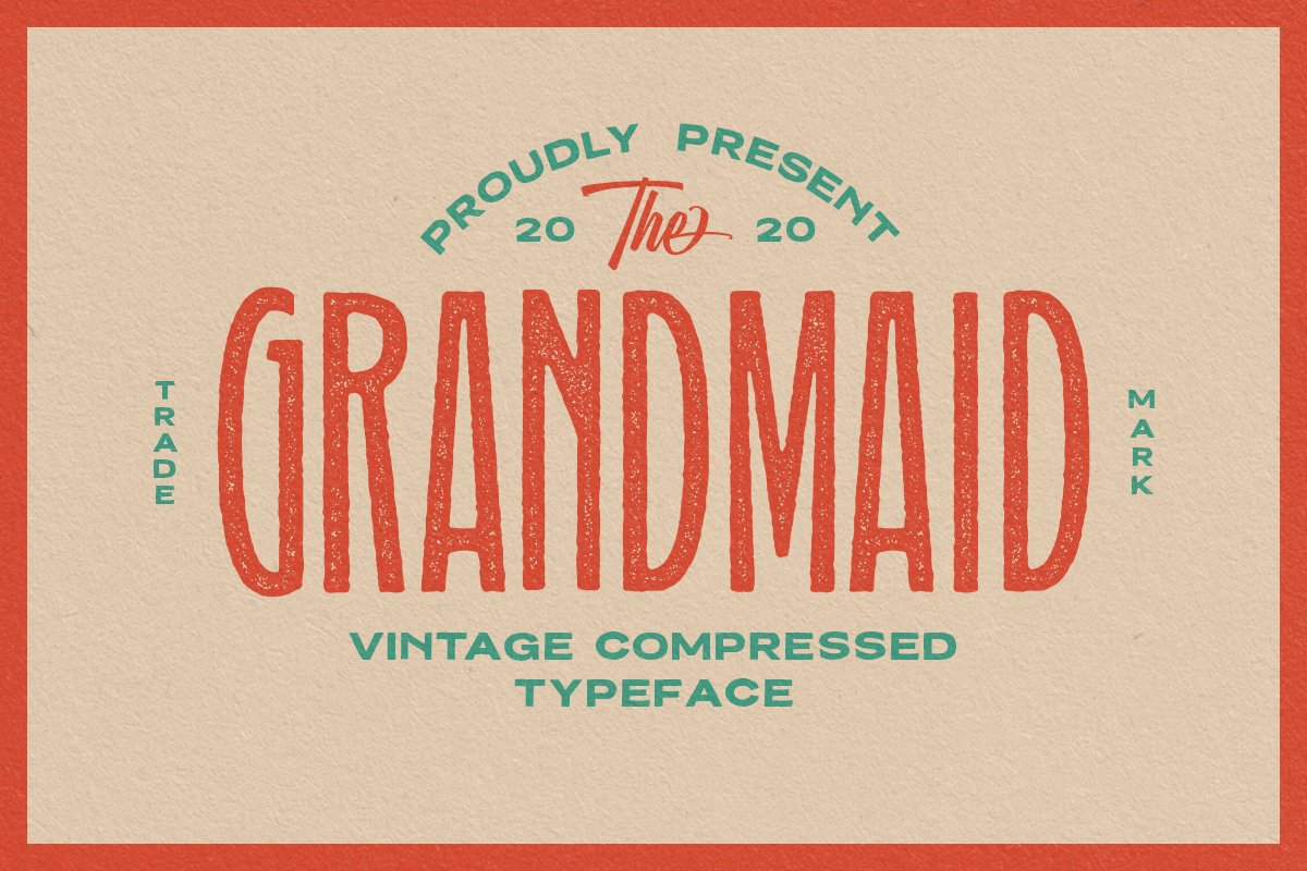 Grandmaid Condensed Font family free download