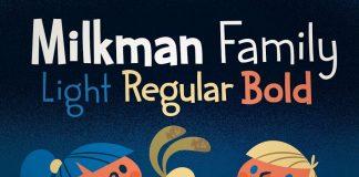 Milkman font family free download
