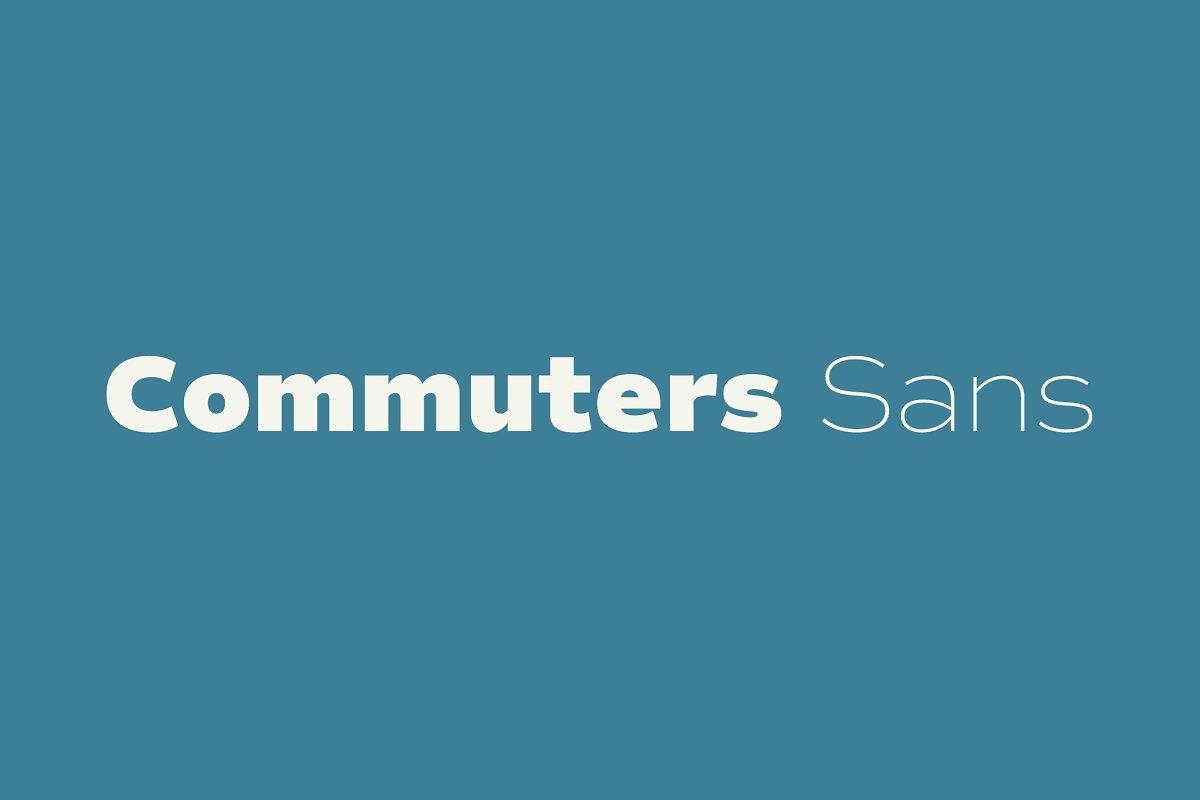 Commuters Sans font family free download