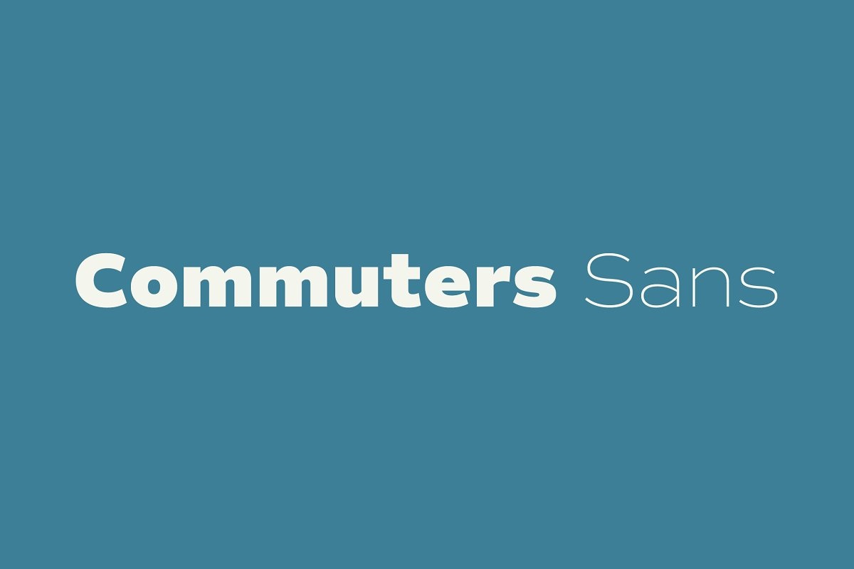 Commuters Sans font family free download