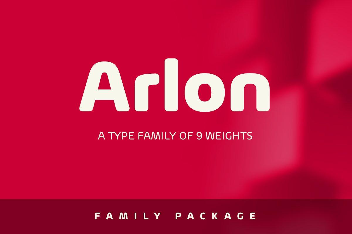Arlon font family free download