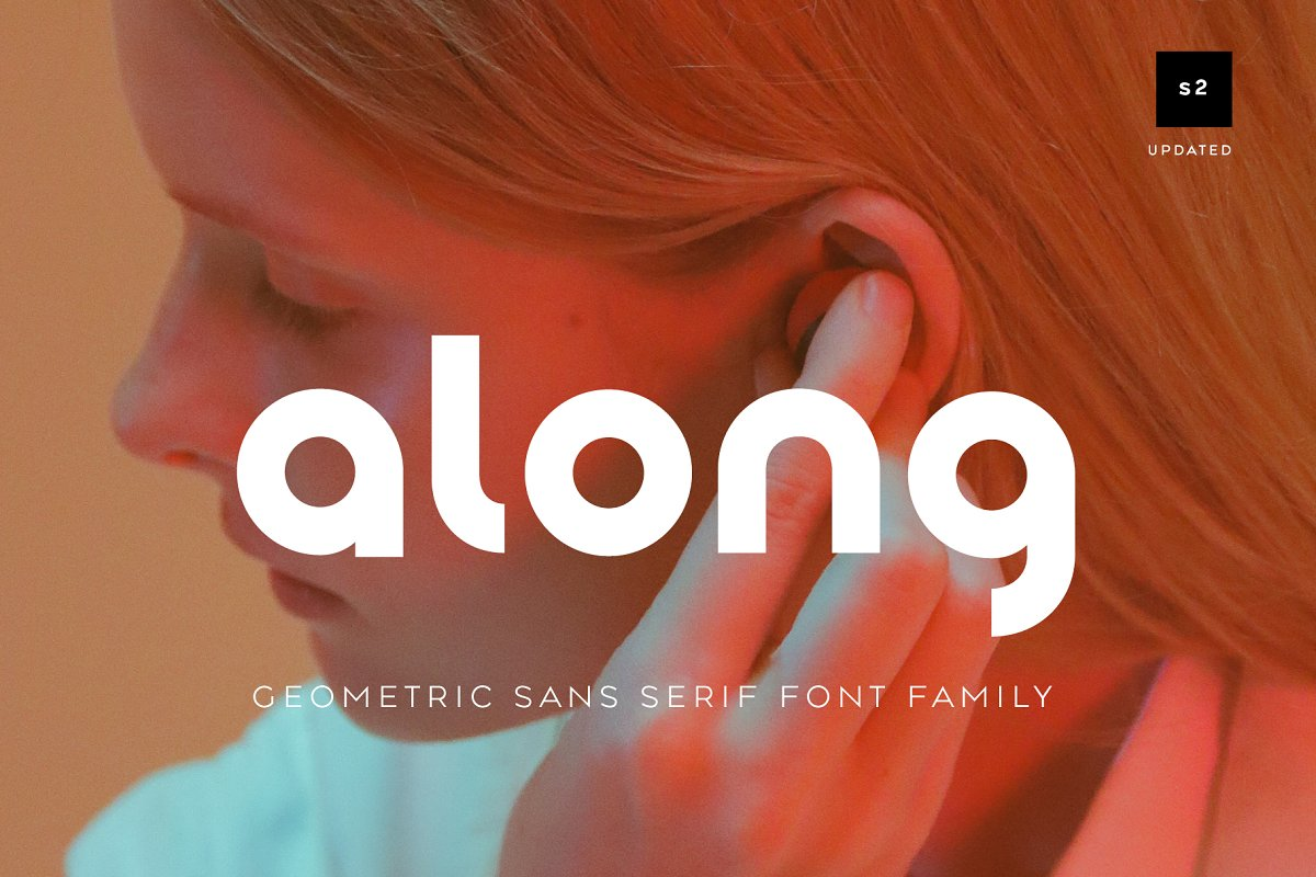 Along Sans Geometric Font Family free download