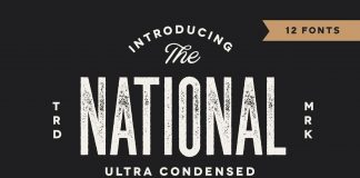 The National font family free download