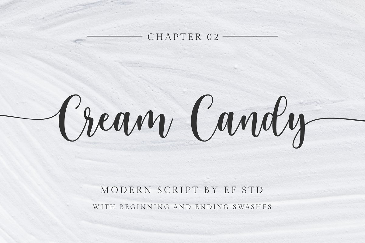 Cream Candy font family free download