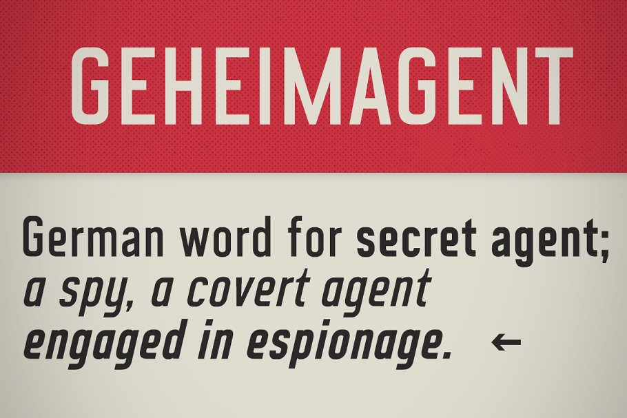 CA Geheimagent Font Family Free Download