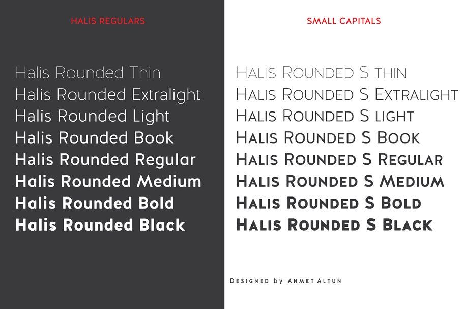 Halis Rounded font