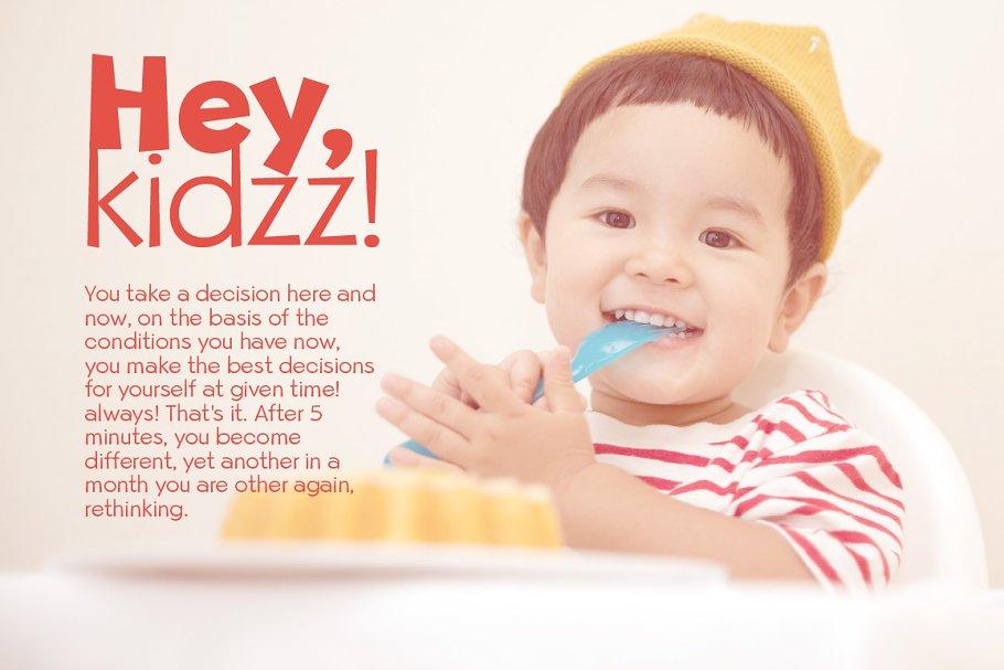 Beebzz Child kid fun font free download