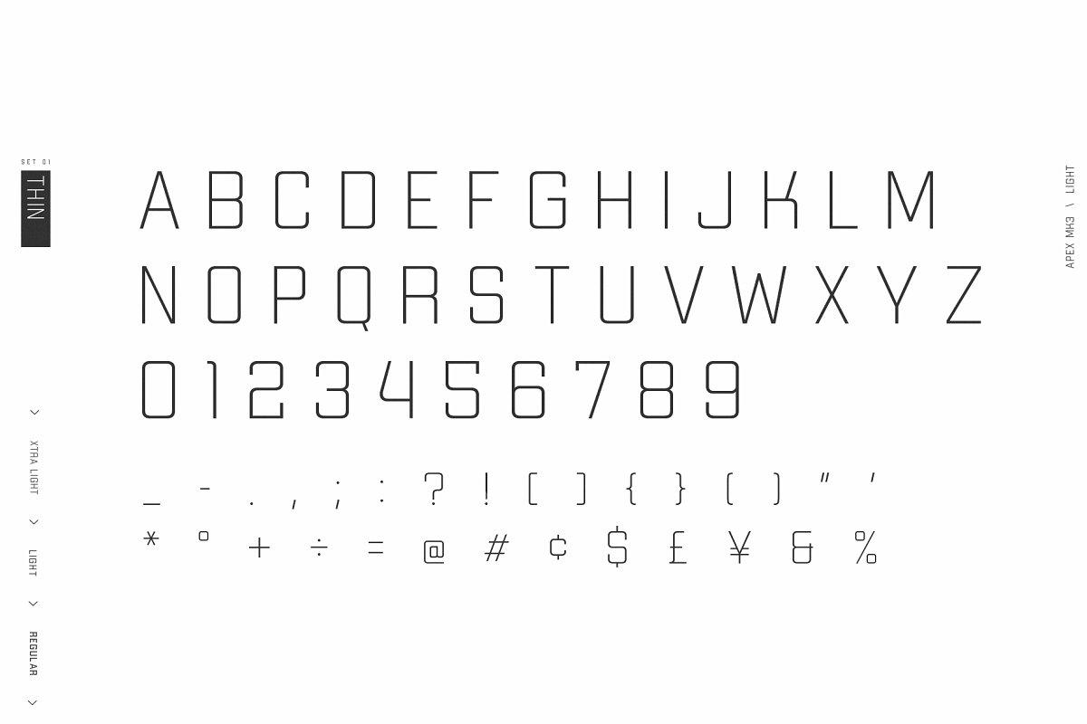 Apex Mk3 Font
