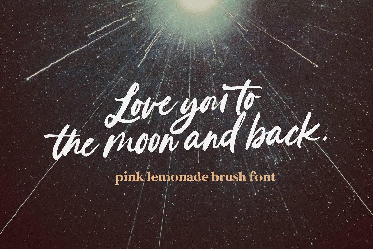 Pink Lemonade Brush Font