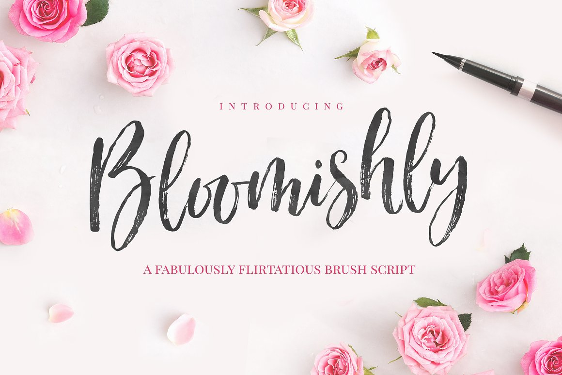 Bloomishly Brush Font Family Free Download