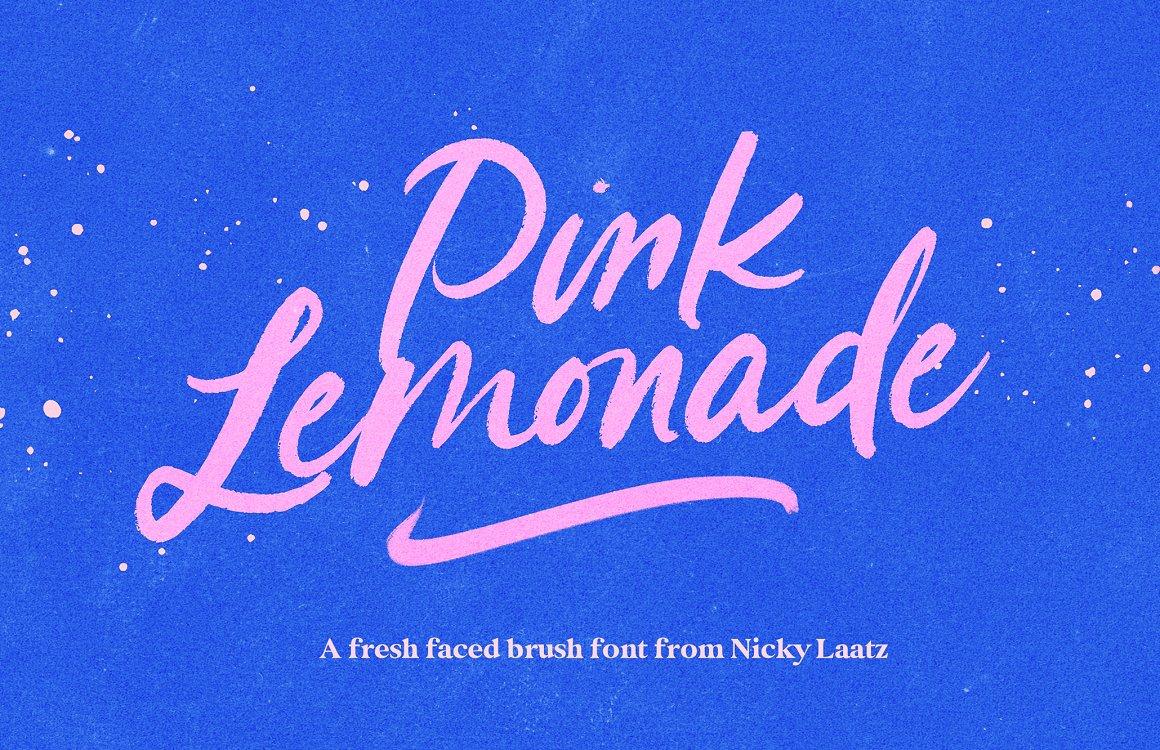 Pink Lemonade Brush Font Family Free Download