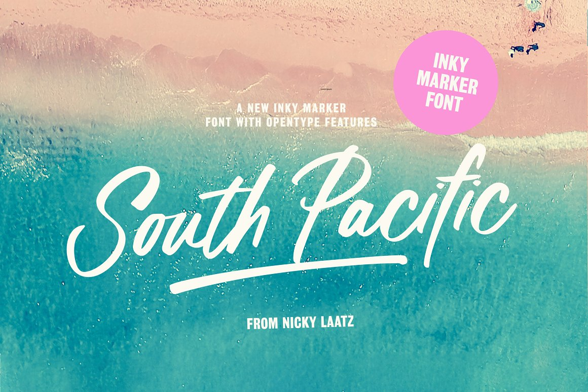 South pacific Marker Font Family Free Download
